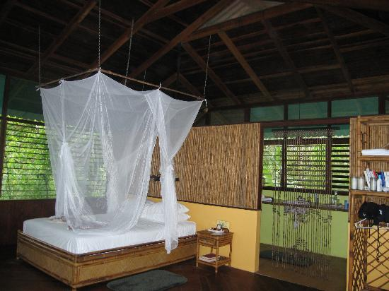 Iguana Lodge: Our cozy bed
