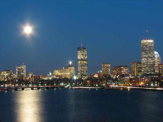 Hyatt Regency Cambridge, Overlooking Boston: I took this shot from our balcony. What an incredible view.