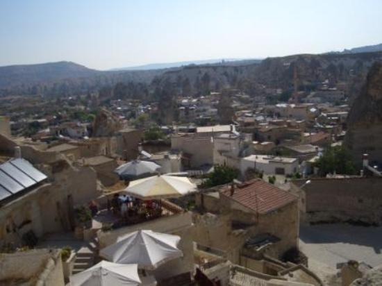 Kelebek Special Cave Hotel: View across Goreme from Kelebek terrace
