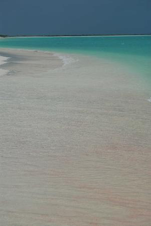 North Beach Island: Isolated pink sand beach