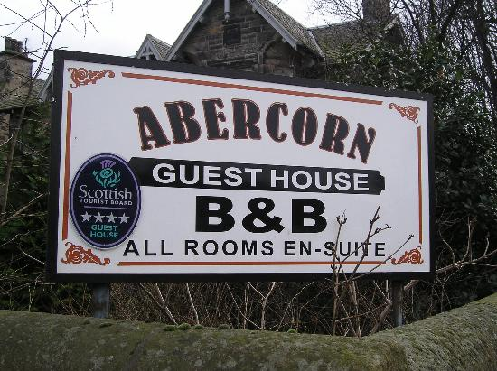 Sign For Abercorn Guest House