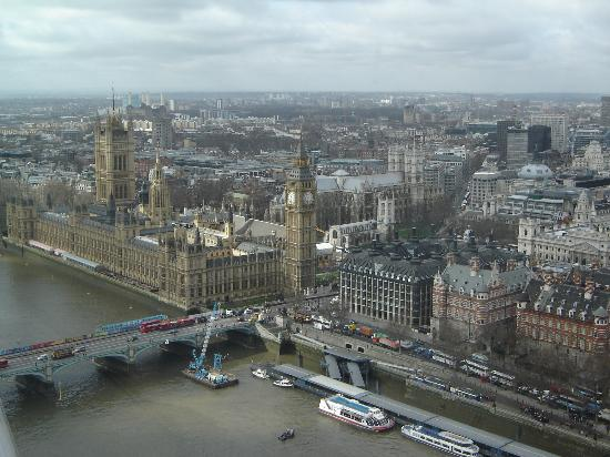 The Paddington Hotel: London! What a view! (This picture was taken from the London Eye).
