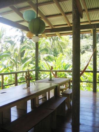 La Loma Jungle Lodge and Chocolate Farm: the main lodge, where meals are served