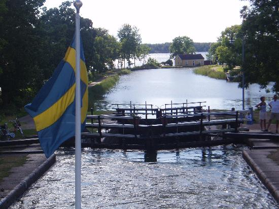 Uppsala County, Zweden: Along the canal