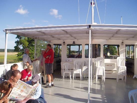 Uppsala County, Sweden: Relaxing on deck of M/S Ceres