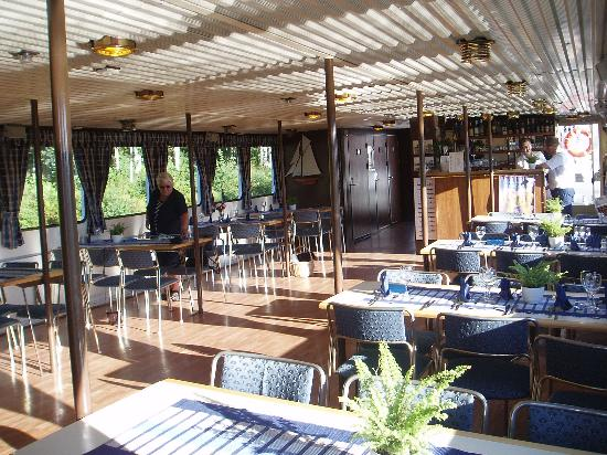 Uppsala County, Sweden: The restaurant on bard M/S Ceres