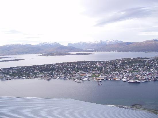 Tromso, Norway: from the top of the mountain - view over Tromsø