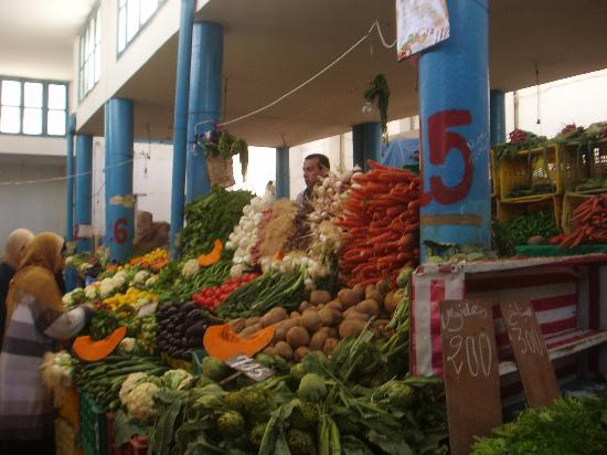 From the indoor market in La Goulette