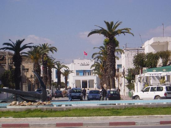La Goulette, Tunisia: From the main street.