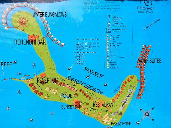 Maldives Hotel Map