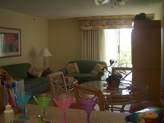 Plaza Resort and Spa: Living area + sofa beds