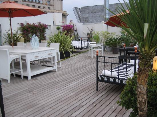 Hotel Pulitzer: the roof terrace