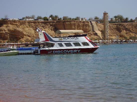 Iberotel Palace: Glass bottom boat