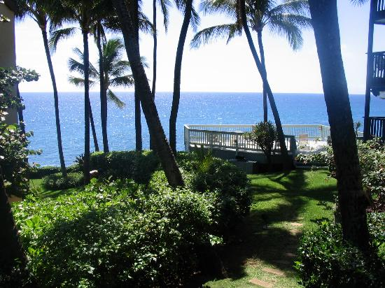 Poipu Palms Condominiums: View from deck of condo 101