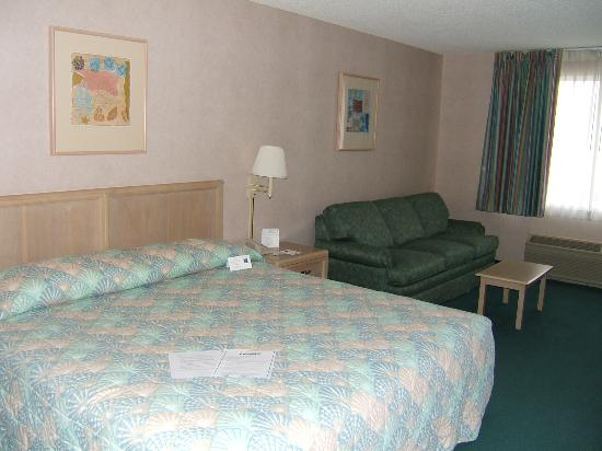 Comfort Inn Rehoboth Beach: King-size bed with a sleeper sofa