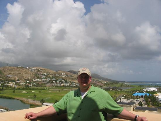 Royal St. Kitts Golf Club: Golf course in back of me.