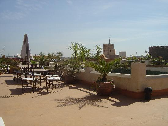 Riad l'Orangeraie: roof terrace