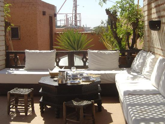 Riad l'Orangeraie: more terrace