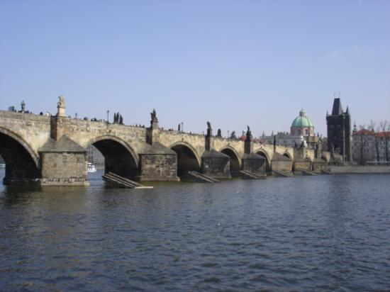 Archibald At the Charles Bridge: view from the room