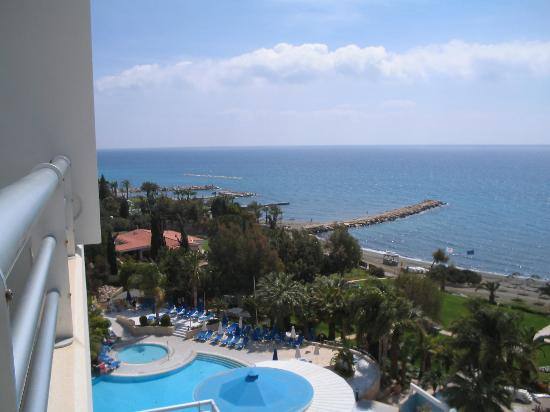 Mediterranean Beach Hotel: view from upgraded room