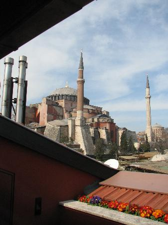 Four Seasons Hotel Istanbul at Sultanahmet: Ayasofia from 4th floor Deluxe Room patio.