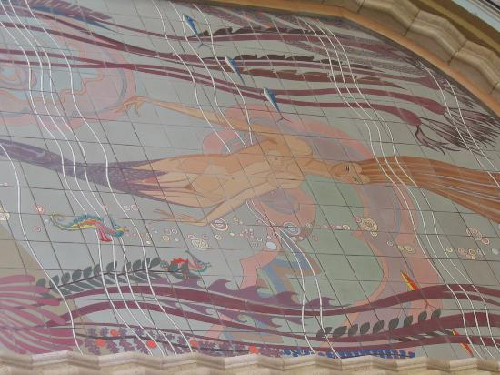 The Edgewater: mermaid mural at casino