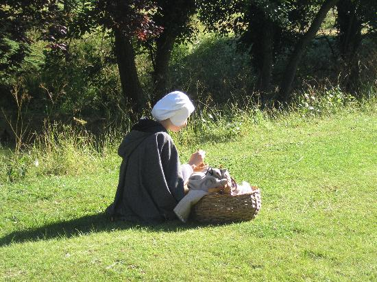 Long Melford, UK: girl with basket