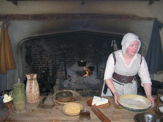 Kentwell Hall: in the kitchen