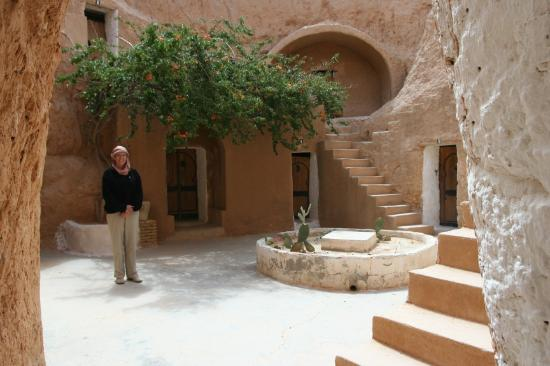 Hotel Marhala: The below ground courtyard of the hotel.
