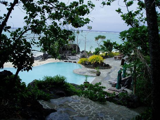 Pacific Resort Aitutaki: View from restaurant lobby