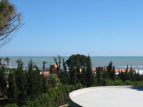 Limak Atlantis Deluxe Hotel & Resort: View from our balcony, over Limra Hall