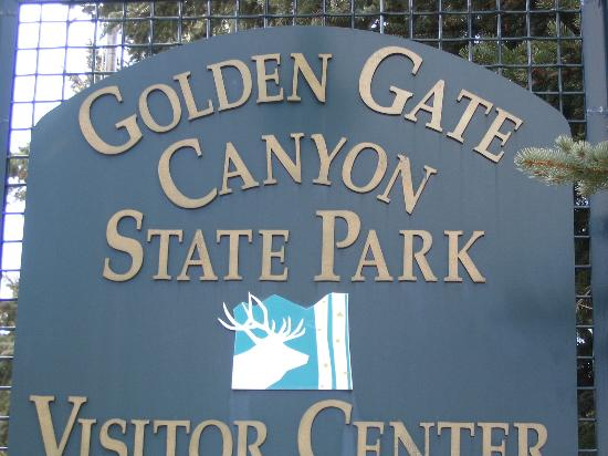 Golden Gate Canyon State Park: Visitor Center Sign