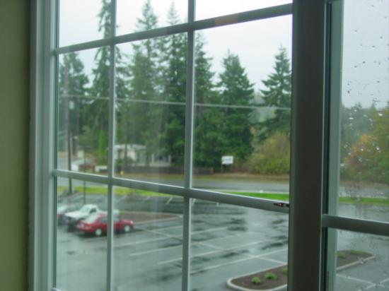 Stay Beyond Inn & Suites: Looking the other way out the window