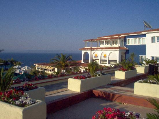 Aristoteles Beach Hotel: lot of flowers everywhere