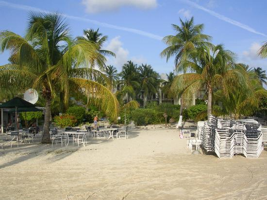 Hotel on the Cay: From the beach, looking at the hotel