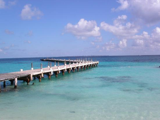 Playa del Carmen, Mexique : pick up location at the pier