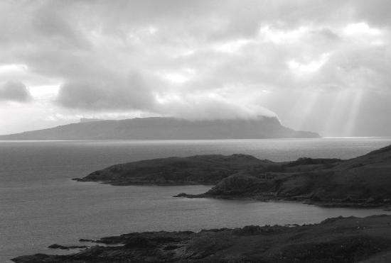 Isle of Skye, UK: View from Sleat to Rum