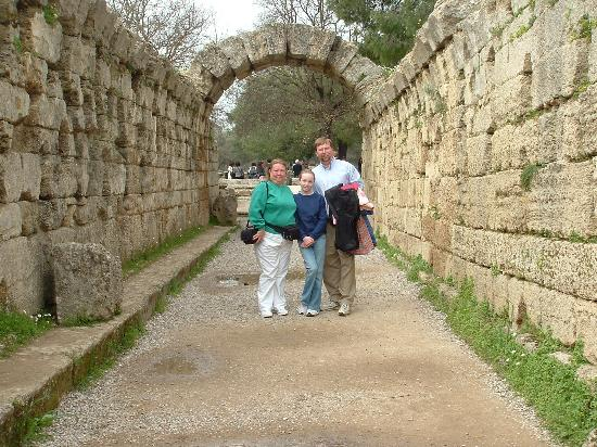 Pension Marianna: Athlete's entrance to the original Olympic Stadium, Olympia