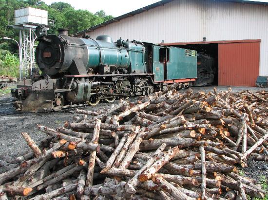 Kota Kinabalu, Malasia: Borneo Railway Steam Locomotive