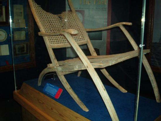 Titanic Museum: Deck chair