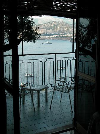 Sorrento, Olaszország: View from balcony at Settimo Cielo