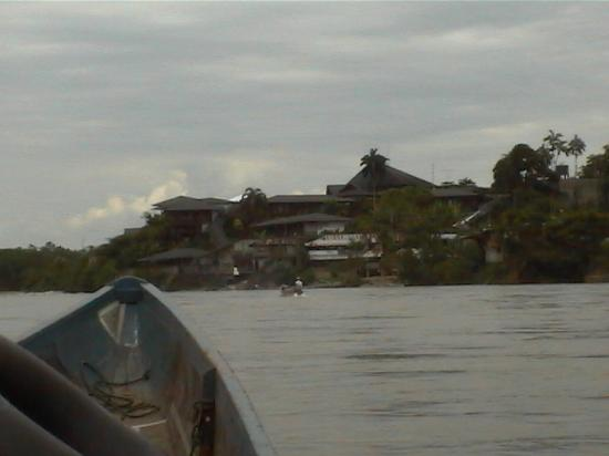 Puerto Napo, เอกวาดอร์: La casa del suizo photographed from canoe on Napo