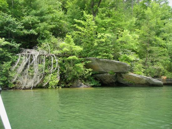 Diving Rock Lake Jocassee SC