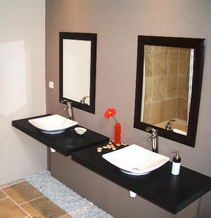 Chateau La Tour Apollinaire: Bathrooms with Zenitude!