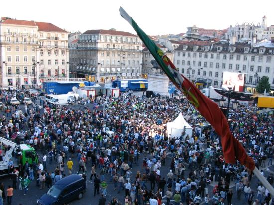 Pensao Praca da Figueira: Fans watching Portugal team in UEFA cup