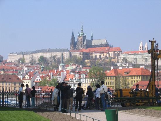 Le Palais Art Hotel Prague: The Castle from Charles Bridge