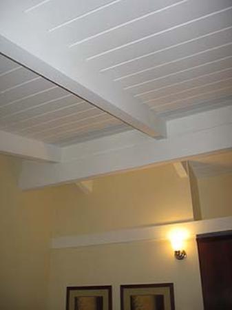 Red Cottage Inn: Slanted Ceiling