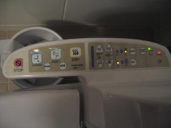 Metro Hotel: high tech toilet