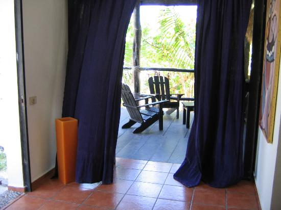 Posada Margherita: View of the deck from inside