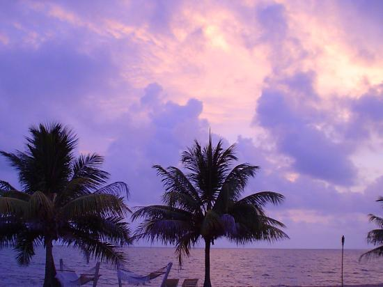 Hamanasi Adventure and Dive Resort: Belize in the early morning at sunrise